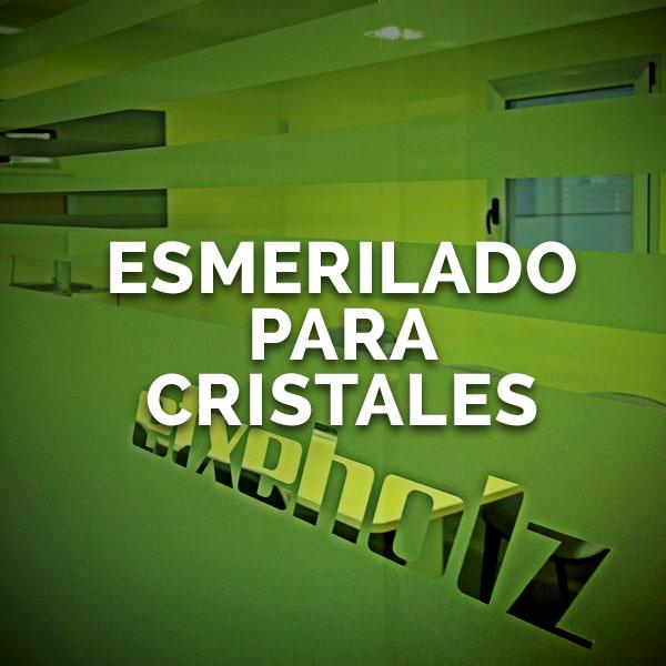 Esmerilado para cristales - Curva Rotulación Integral Pamplona