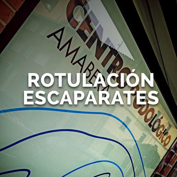 Rotulación escaparates - Curva Rotulación Integral Pamplona