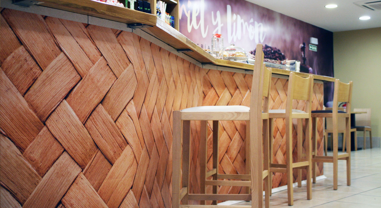 Miel y limón Cafetería - Diseño y Rotulación para tu negocio - Curva Rotulación Integral Pamplona